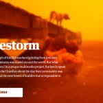 """Telling the story of Firestorm"" – Jon Henley & Robin Beitra at Hacks/Hackers London"