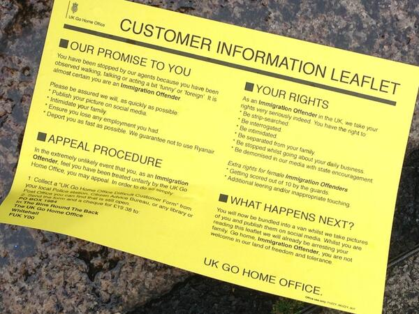 UKGoHomeOffice customer information leaflet