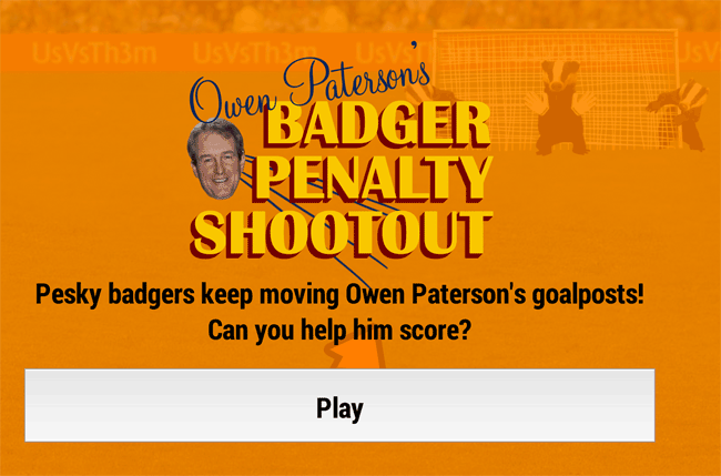 Owen Paterson's Badger Penalty Shoot-out
