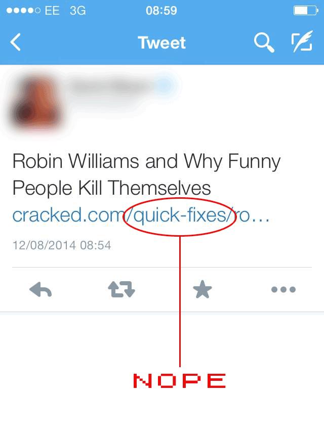 Robin Williams Quick Fix URL
