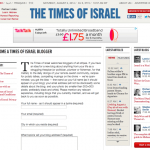 Did the Times of Israel say genocide was permissible? Spoiler: NO