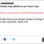 The Scotsman really has banned mention of Wings Over Scotland in their comments