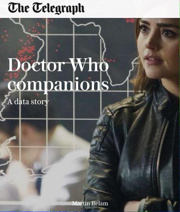 Doctor Who companions data story in the Telegraph