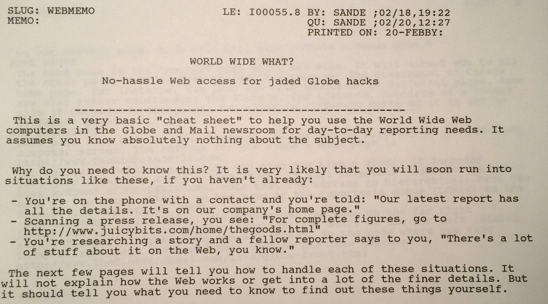 1996 web memo