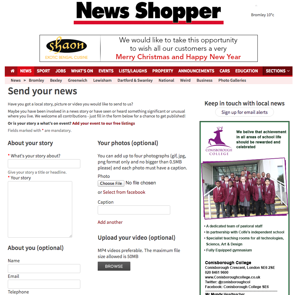 Newsquest form