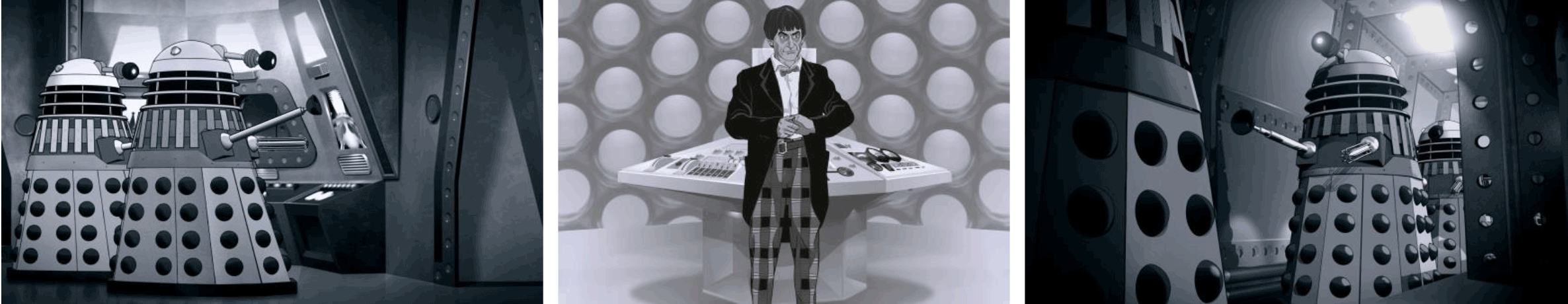 "Stills from ""Power of the Daleks"""
