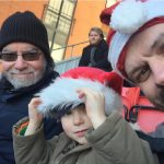 (L-R) My dad, James, some bloke a couple of rows back, and me, at Leyton Orient on Boxing Day 2016