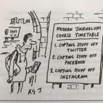 """Alright, grandad"" – Private Eye cartoon has a pop at modern social media journalism"