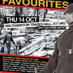Come to my party: Fireside Favourites at Walthamstow Trades Hall on 14 October